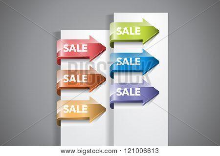 Sale Arrow Labels