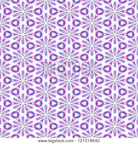 Red blue white decorative kaleidoscopic fractal floral starry regular mirroring p