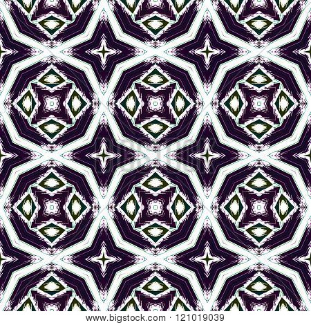 Abstract kaleidoscope symmetrical regular mirroring shady pattern in retro historical style - digitally rendered graphic