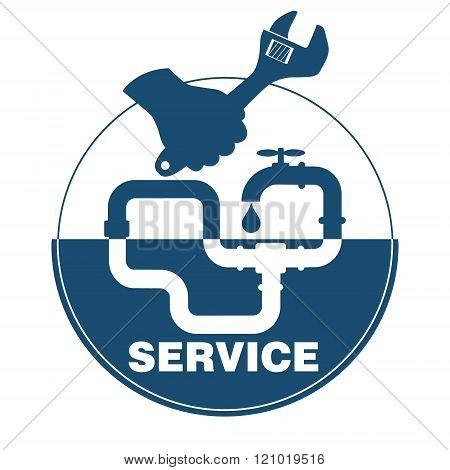 Plumbing Service Emblem