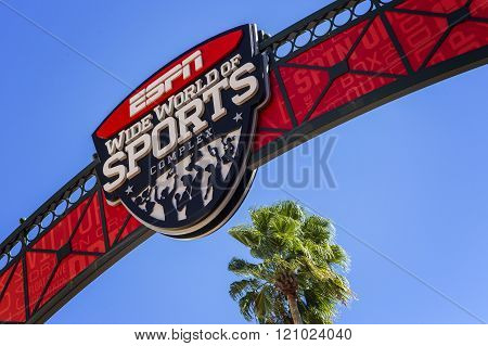 Orlando,Florida/USA-ESPN, 4 Jan 2016: Wide World of Sports, Florida, USA.  Entrance to the stadium.