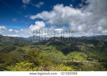 View Of The Western Ghats From Rajamalai Hills, Munnar, Kerala, India