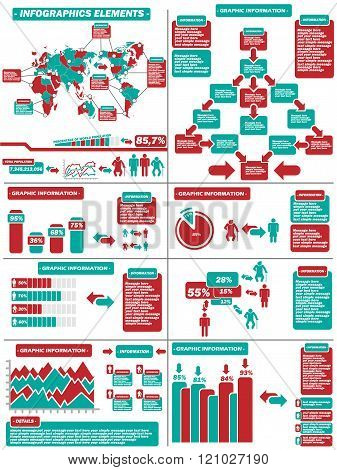 Infographic Demographics   Red