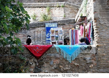 Tourist shop in the Albaicin, Granada.