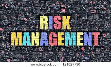 Risk Management in Multicolor. Doodle Design.