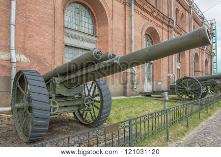 127-mm Heavy Field Gun Armstrong System. Weight, Kg: Guns - 5435, Shell - 27