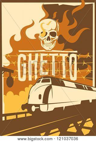 Retro ghetto poster. Vector illustration.