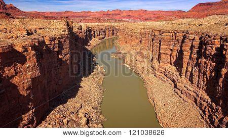Colorado River Cuts Through Marble Canyon