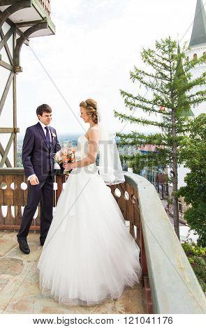 Wedding, Beautiful Romantic Bride and Groom