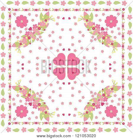 Floral Background, Pink Girl Pattern