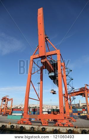 Port Crane in a sea port