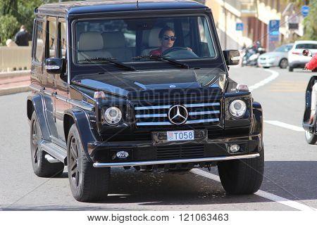 Black Suv Mercedes Amg G 65 In Monaco
