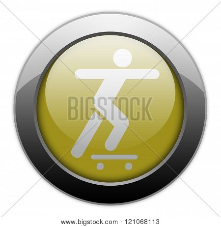 Image Picture Icon Button Pictogram with Skateboarding symbol