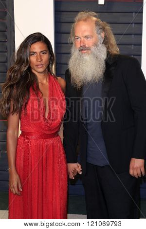 LOS ANGELES - MAR 3:  Mourielle Herrera, Rick Rubin at the Bosch Season 2 Premiere Screening at the Silver Screen Theater at the Pacific Design Center on March 3, 2016 in West Hollywood, CA