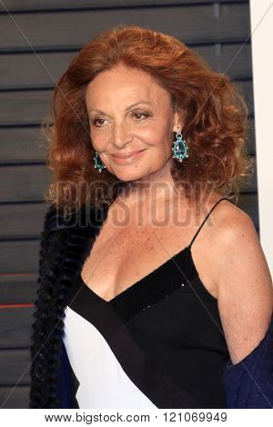 LOS ANGELES - FEB 28:  Diane von Furstenberg at the 2016 Vanity Fair Oscar Party at the Wallis Annenberg Center for the Performing Arts on February 28, 2016 in Beverly Hills, CA