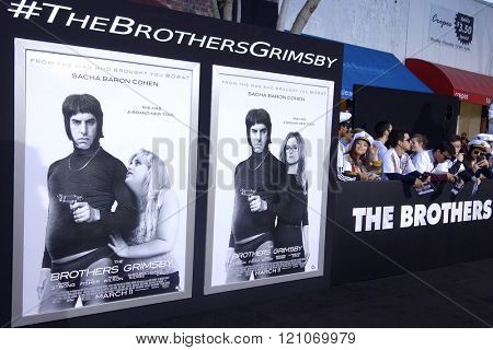 LOS ANGELES - MAR 3: General Atmosphere at the Premiere of 'The Brothers Grimsby' at the Regency Village Theater on March 3, 2016 in Los Angeles, California