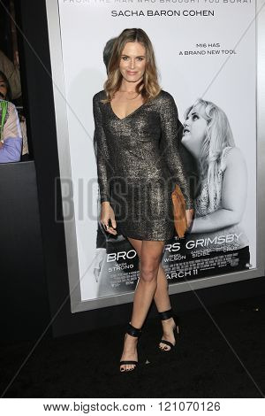 LOS ANGELES - MAR 3:  Lauren Shaw at the The Brothers Grimsby Premiere at the Regency Village Theater on March 3, 2016 in Westwood, CA