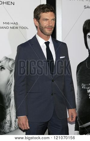 LOS ANGELES - MAR 3:  Sam Hazeldine at the The Brothers Grimsby Premiere at the Regency Village Theater on March 3, 2016 in Westwood, CA