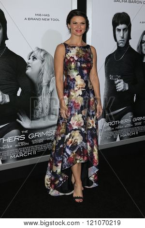 LOS ANGELES - MAR 3:  Danielle Vasinova at the The Brothers Grimsby Premiere at the Regency Village Theater on March 3, 2016 in Westwood, CA
