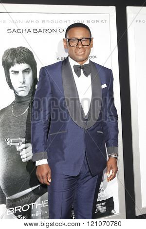 LOS ANGELES - MAR 3:  David Harewood at the The Brothers Grimsby Premiere at the Regency Village Theater on March 3, 2016 in Westwood, CA