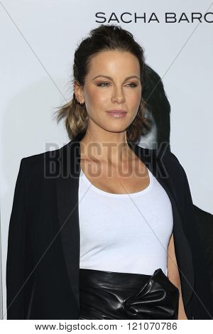 LOS ANGELES - MAR 3:  Kate Beckinsale at the The Brothers Grimsby Premiere at the Regency Village Theater on March 3, 2016 in Westwood, CA