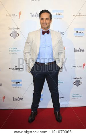LOS ANGELES - MAR 5:  Carmelo Gandia at the Children International Charity's Share The Love Around The World Fundraiser at the Rocky Oaks Malibu on March 5, 2016 in Malibu, CA