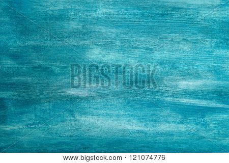 Blue painted artistic canvas