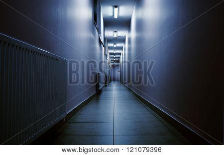 Terrifying Night Corridor In Perspective