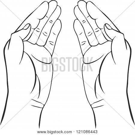 two hands with open palms