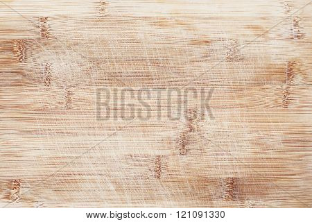 Scratches On A Wooden Bamboo Background