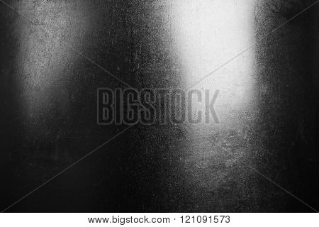 Polished metal background, close up