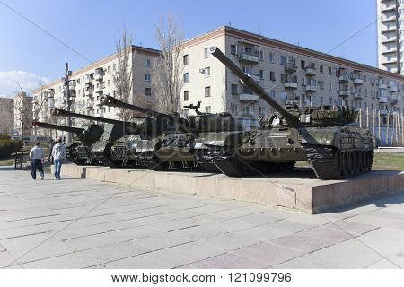 Soviet fighting tanks