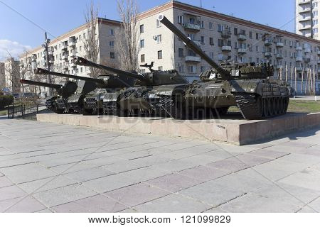 A Soviet Tank. Volgograd Russia
