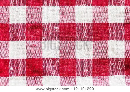 Red Check Pattern Canvas Background
