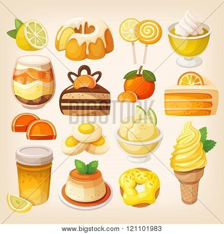 Colorful Lemon And Orange Desserts