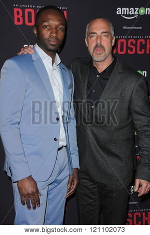 LOS ANGELES - MAR 3:  Jamie Hector, Titus Welliver at the Bosch Season 2 Premiere Screening at the Silver Screen Theater at the Pacific Design Center on March 3, 2016 in West Hollywood, CA