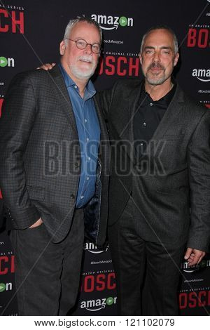 LOS ANGELES - MAR 3:  Michael Connelly, Titus Welliver at the Bosch Season 2 Premiere Screening at the Silver Screen Theater at the Pacific Design Center on March 3, 2016 in West Hollywood, CA