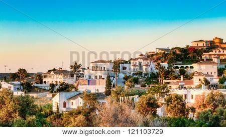 Mijas In Malaga, Andalusia, Spain. Summer Cityscape. Village Wit