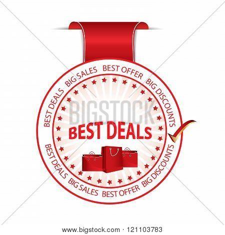 Best Deals red ribbon.