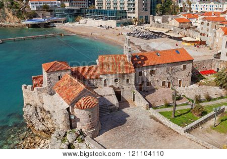 Churches Of Old Town In Budva, Montenegro