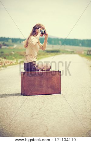 Young woman travelling