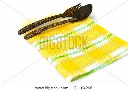 Kitchen Napkins Serving Isolated on White background