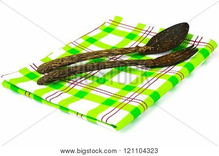 Kitchen Napkins Serving Isolated on White background