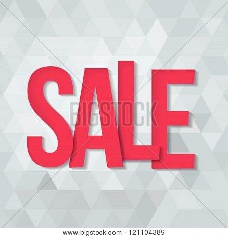 Sale typography background.