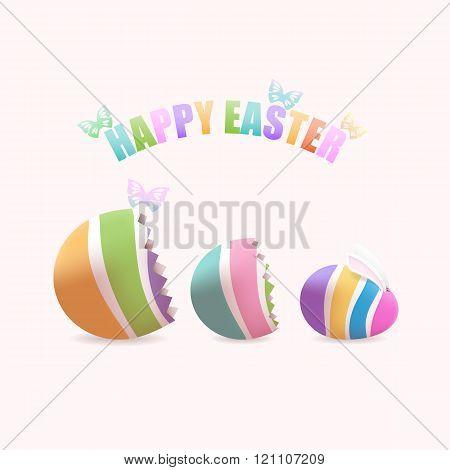 Easter egg inside eggs