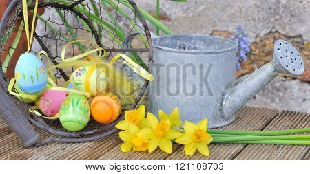 Easter Decoration In Garden