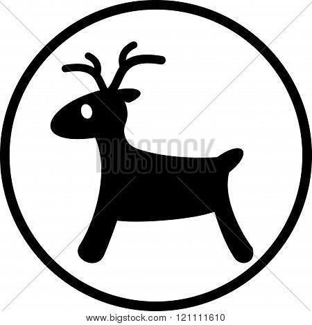 Rudolph reindeer vector icon