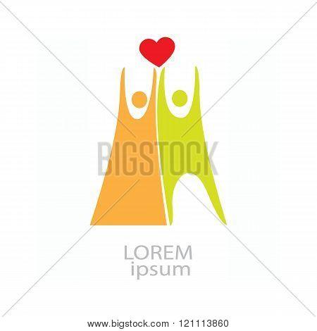 Loving couple icon
