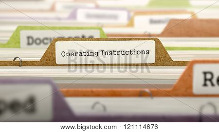 Operating Instructions Concept. Folders in Catalog.