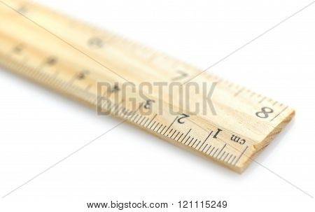 Wooden Ruler Close-up